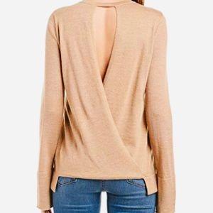"BCBG ""Turner"" knit open back sweater"